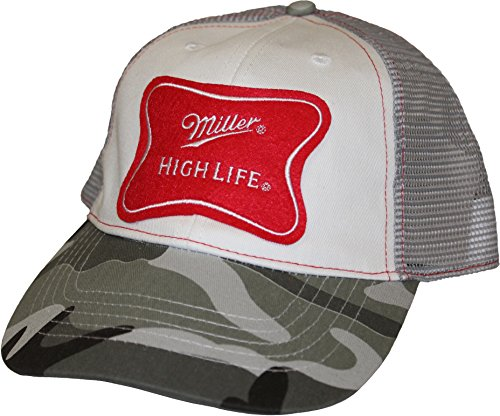 Miller High Life Baseball Hat Trucker Cap Adult One Size - Cap Life High Miller