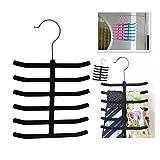 Whitelotous Non-Slip Velvet Flocked Necktie Belt Scarves Hanger Closet Organizer