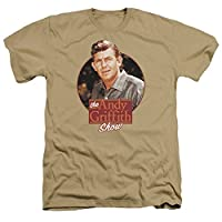 Trevco Men's Andy Griffith Short Sleeve T-Shirt, Heather Sand, Medium