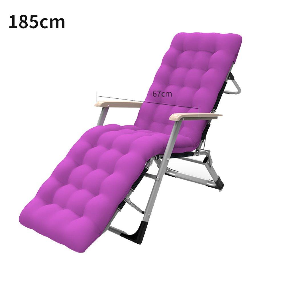 XXHDYR Recliner Klappstuhl Mittagspause Stuhl Siesta Stuhl Stuhl Balkon Liegestuhl Klappstuhl (Farbe : lila, größe : 185cm)