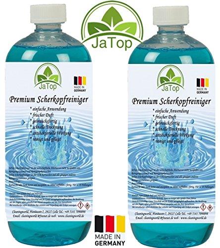 JaTop Scherkopfreiniger 2000ml Nachfüllflüssigkeit für Reinigungskartuschen.Geeignet für Braun CCR Kartuschen + gängige Kartuschen