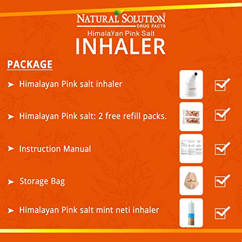 51fUozvtGsL - Natural Solution Organic Personal Care Travel Gift Set 2 Items | Nasal Inhaler and Ceramic Salt Inhaler