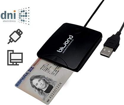 BIWOND Lector DNI 3.0 y Tarjetas criptográficas BW0028 (USB, Compatible con DNI 3.0, Sopo rta: Windows XP / Vista / Win7 / Win8 / Win10 / Linux 2.4 o superior, Bajo Consumo, Fácil de Transportar, Ligero): Amazon.es: Electrónica