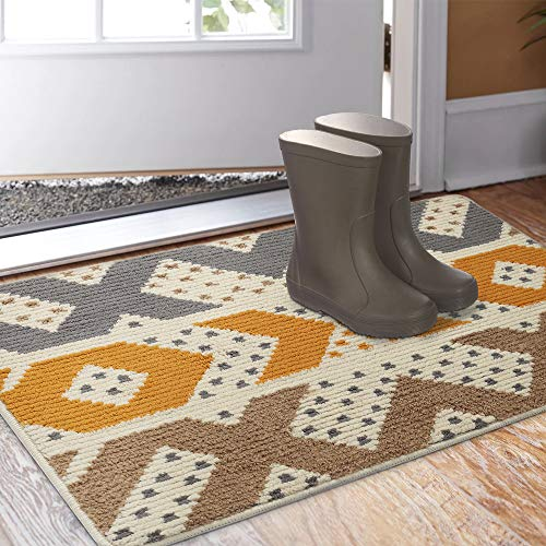 "Indoor Outdoor Rug 24""x36"" Front Door Mat Waterproof"
