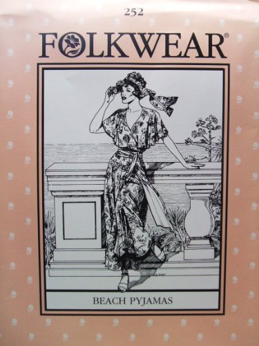 [Folkwear #252 Beach Pyjamas Resort Wear 1920s 1930s Sewing Costume Pattern] (1920s Beach Costume)