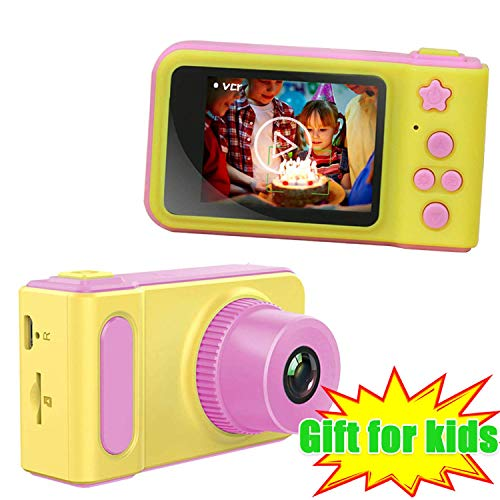 Hachi's Choice Kids Camera for 4-7 Year Old Boys and Girls, Shockproof Digital Cameras for Child Boys Girls, Compact Camcorder Best Birthday Festival Gifts for Kid (Basic-Pink)]()