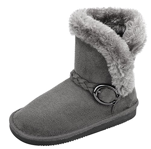 Arctic Paw Little Kids Winter Boots Faux Fur Lined Girls Cold Weather Snow Boots Cream 11