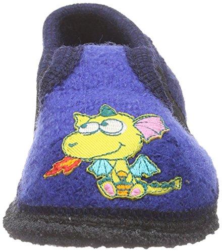 Kitz - Pichler Bobby Drachen - pantuflas de lana Niños^Niñas azul - Blau (royal 001)
