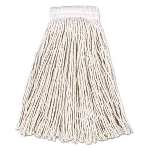 Rubbermaid V157 Economy Cotton Mop Heads Cut-End White 20 oz 5-In White Headband 12/Carton (Economy Pro Mop)