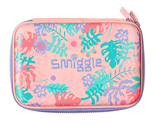 Smiggle Pencil Case Hard Top Humble Orange//Purple Jungle and Camo Pattern