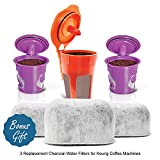 reusable carafe keurig - 2 Reusable KCups, 1 Reusable Carafe KCup and 3 Replacement Charcoal Water Filters By Housewares Solutions for Keurig 2.0 Brewing Systems