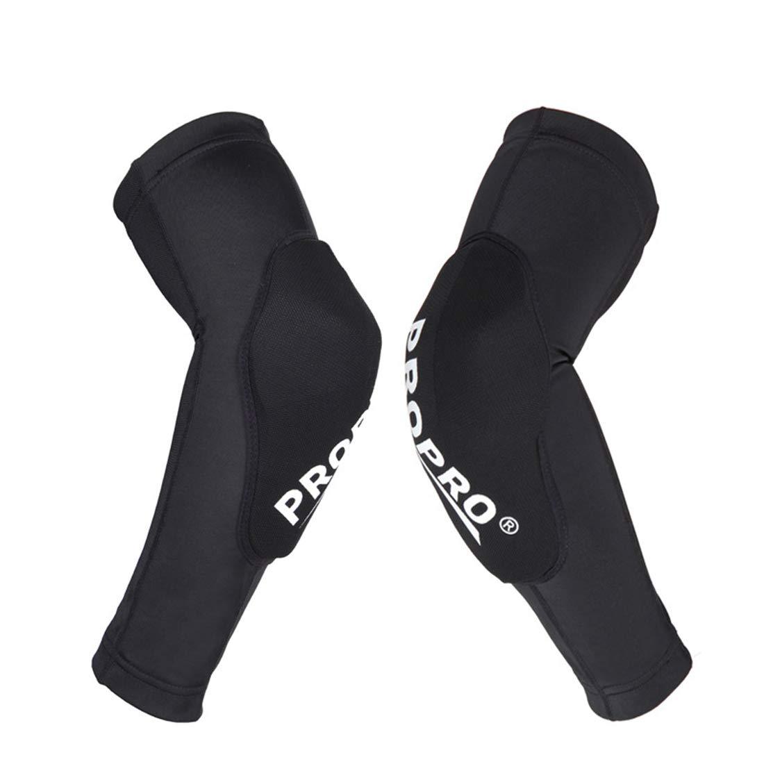 JPAKIOS Kneepad肘パッドスーツ ライトダウンヒルバイクプロテクター オフロードバイク乗り馬具 スキーシャッター抵抗保護服 (色 : 黒, サイズ : S) B07RBLQ47Y 黒 Small