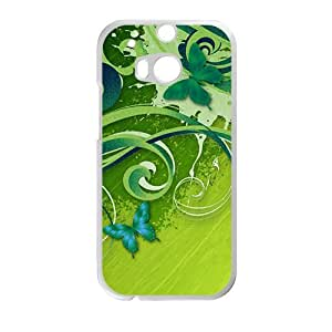 green cirrus and fly butterfly personalized creative custom protective phone case for HTC M8