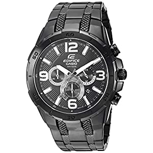 Casio Men's 'Edifice' Quartz Stainless-Steel-Plated Casual Watch, Color:Black (Model: EFR-538BK-1AVCF 7