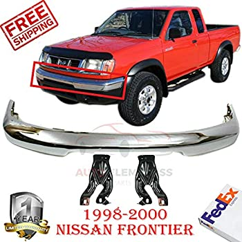 Front Bumper Cover Chrome Steel for 1999-2003 Ford F-150 XL XLT Extended//standard Cab Pickup Brackets Left Hand /& Right Hand Side Lower Valance Textured W//Fog Light Holes