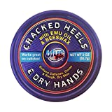 BLUE GOO CRACKED HEELS & DRY HANDS Skin Softener for Dry Feet, Hands, Hydrating and Smoothing, Moisturizer, Dryness Relief, 2 Ounce, made with 100 % PURE EMU OIL