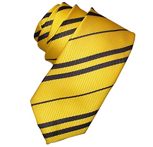 Tie Costume Striped Necktie Halloween Cosplay Party Supplies Accessories for Kids and Adults (Yellow) ()