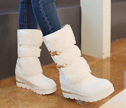 Aisun Femme Fourr Confort Neige Chaussures de UUxrTqnf