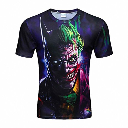Fashion Frog Printed 3D T-shirts, Punk 3D Short Sleeve Tee Shirt jersey Quick dry Men 's T Shirts drop ship (Funny 3 Person Costume Ideas)