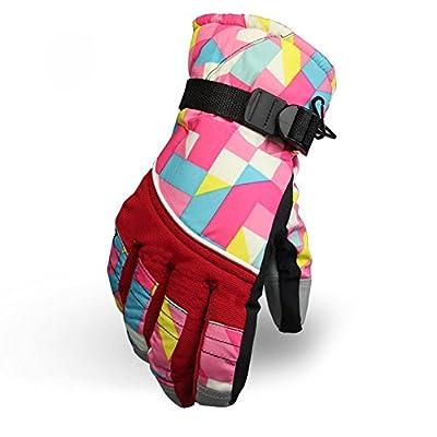 KINEED Waterproof Windproof Girls Youth Winter Ski Skiing Snow Snowboard Riding Warm Gloves Large