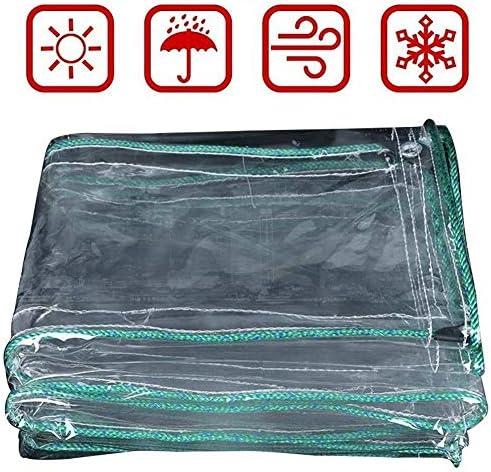 FQJYNLY 防水シートポリ塩化ビニールのプラスチックフィルムの防塵の絶縁の庭の温室の保護、厚さ0.5MM、24のサイズ (Color : Clear, Size : 1.7X2.4M)