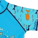 TFJH E Kids Boys Swimsuit UPF 50+ UV Sun Protective 2PCS Fish,Blue Short,5-6Y