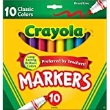 Crayola Classic Markers, Broad Line 10 Each (Pack of 48)