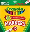 Crayola Classic Colors Broad Line Markers,10 Count ( Case of 24 )