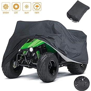 Indeedbuy Waterproof ATV Cover,Large Heavy Duty Black Protects 4 Wheeler From Snow Rain or Sun,102'' x44'' x 48''