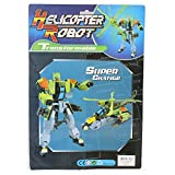 Wholesale Kids Transforming Robot to Helicopter Toys in Assorted Colors - Case of 36