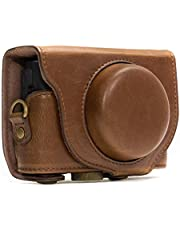 Save on MegaGear MG284 Sony Cyber-shot DSC-RX100 VI, DSC-RX100 V, DSC-RX100 IV, DSC-RX100 III Ever Ready Leather Camera Case with Strap - Dark Brown and more