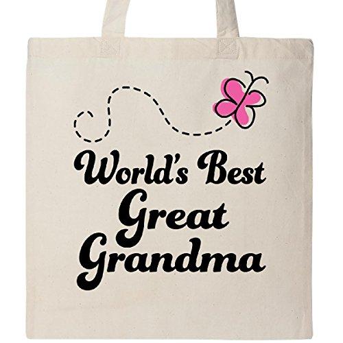 Inktastic Worlds Best Great Grandma Gift Tote Bag Natural