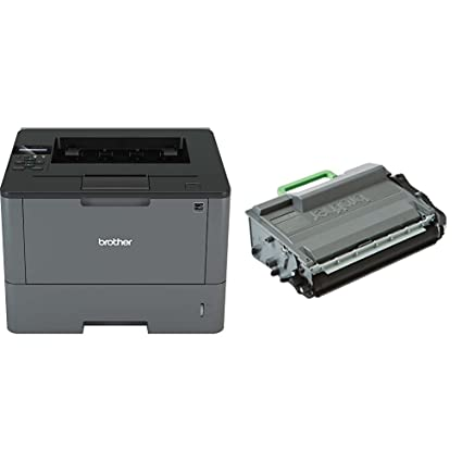 Brother HL-L5000D - Impresora láser profesional monocromo (250 hojas, 40 ppm, USB 2.0, doble cara automática) + Brother TN3480 - Tóner negro (8.000 ...