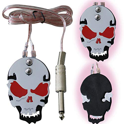 Tattoo Foot Pedal, Tazay Stainless Steel Tattoo Foot Pedal Switch Skull Pattern Design for Tattoo Machine Accessories Tattoo Supplies