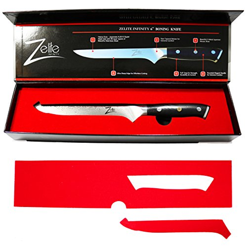 Review ZELITE INFINITY Boning Knife 6 Inch – Alpha-Royal Series – Best Quality Japanese AUS10 Super Steel 67 Layer High Carbon Stainless Steel -Razor Sharp Superb Edge Retention, Stain & Corrosion Resistant