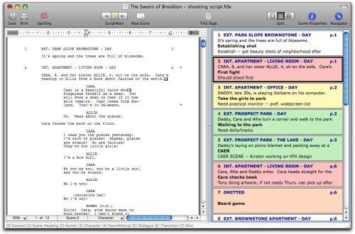 final draft script writing software free download