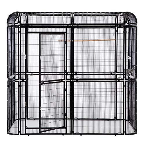 PANEY Large Aluminum Bird Cage Parrot...