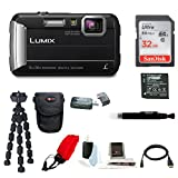 Panasonic Lumix DMC-TS30 Digital Camera (Black) with 32GB Accessory Bundle