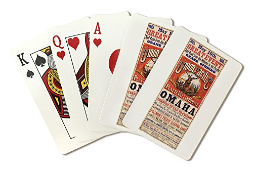Grand Opening of the Union Pacific Railroad Platte Valley RoutePoster (artist: Baker) USA c. 1869 (Playing Card Deck - 52 Card Poker Size with Jokers)