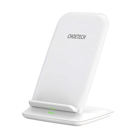 Cargador Inalámbrico Rápido CHOETECH Fast Wireless Charger Qi Cargador 7.5W Compatible con Apple iPhone XS/XS Max/XR/X/8 Plus/8, 10W Carga Rápida ...