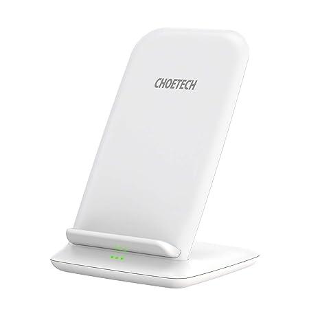 Cargador Inalámbrico Rápido CHOETECH Fast Wireless Charger Qi Cargador 7.5W Compatible con Apple iPhone XS/XS Max/XR/X/8 Plus/8, 10W Carga Rápida ...