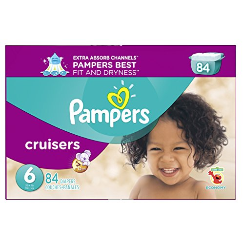 Pampers Cruisers Disposable Diapers Size 6, 84 Count, ECONOMY (Pampers 6 Cruisers)