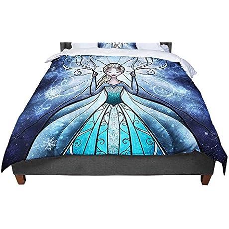 KESS InHouse Mandie Manzano The Snow Queen Frozen Twin Comforter 68 X 88