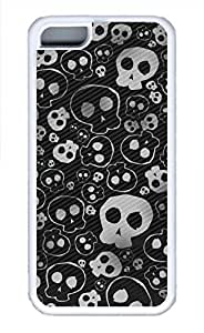 APPLE iphone 6 plus Case - W Skull Cool Retro Customize iphone 6 plus Cover White