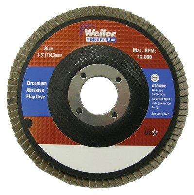 Zirconia Alumina 60 Grit 12000 rpm 7//8 Weiler 804-31357 Vortec Pro Type 29 Flap Disc 5 7//8 5