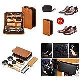 Generic e Shine Ki Leather Sleek el Shoe Kit PU Travel Shoe Shin Travel Shoe Shine PU Leat Shoe Brush Set oe Brush Set Elegant Case hoe Brush Set