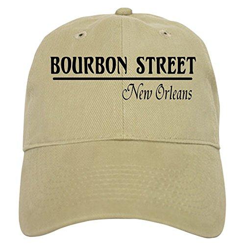 CafePress Bourbon Street Cap Baseball Cap with Adjustable Closure, Unique Printed Baseball Hat Khaki ()