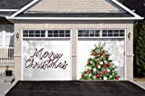 Victory Corps Merry Christmas Tree - Christmas Garage Door Banner Mural Sign Décor 7'x 8' Split Car Garage - The Original Holiday Garage Door Banner Decor: more info