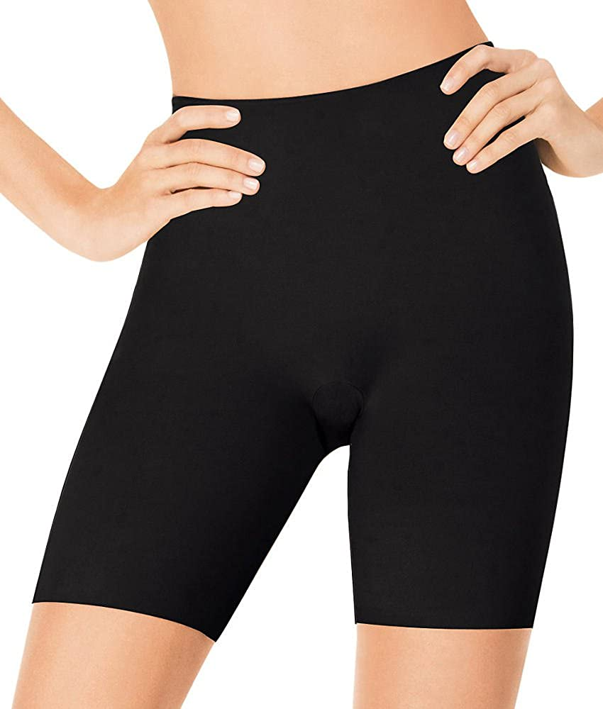 Black ASSETS Red Hot Label by SPANX Luxe /& Lean Firm Control Mid-Thigh Shaper