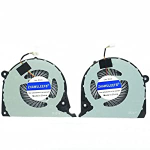 Lee_store Replacement New CPU+GPU Cooling Fan for Dell Inspiron 15 7577 7588 G7-7588 G7-7577 Series, DFS2000054H0T FK0D 5.97 CFM+DFS541105FC0T FK0F 5.51 CFM Fan